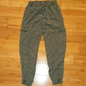 H&M Heather green soft cargo joggers xs